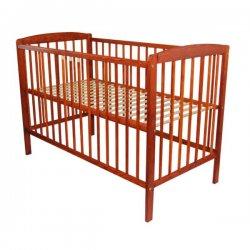 Raudonmedžio spalvos kūdikių lovytė