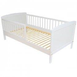 Viengulė balta lovytė su apsauga