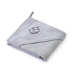 """Vaikiškas rankšluostis su gobtuvu """"Hippo"""", 80 x 80 cm"""