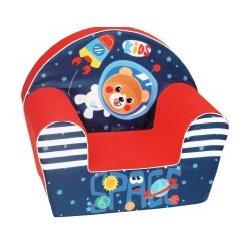 """Raudonas minkštas fotelis - """"Kosmosas"""""""