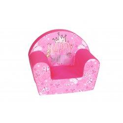 """Minkštas fotelis vaikams - """"Laiminga princesė"""""""
