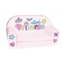 """Rožinė vaikiška sofa - """"Mažoji princesė"""""""