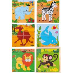 """Kubelių dėlionė """"Safaris"""" 2×2"""