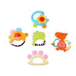 Penkių žaisliukų rinkinys kūdikiams