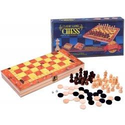Šaškių šachmatų bei tryktrak žaidimų komplektas