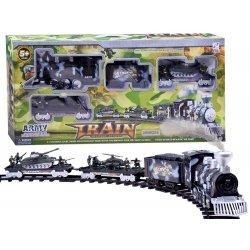 Kariuomenės traukinio trasa su priedais