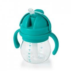 OXO buteliukas su šiaudeliu ir rankenėlėmis - mėtinis 4 mėn+