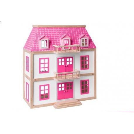 """Medinis lėlių namas su baldais """"Vila Wisteria"""""""
