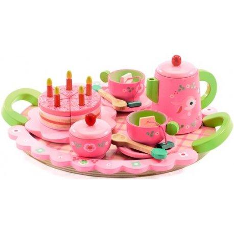 """Djeco medinis arbatos rinkinys """"Lilės popietė su arbata"""" 4+"""