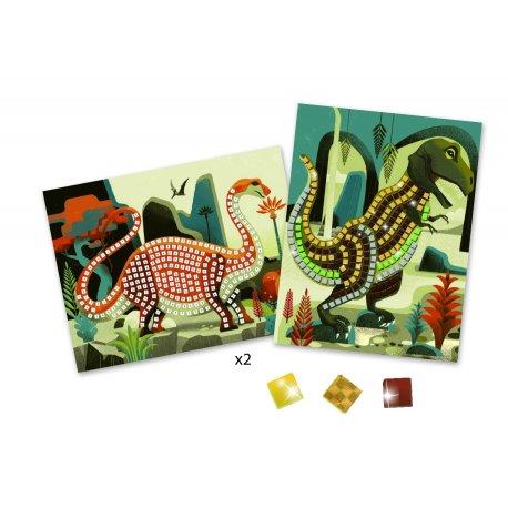 "Djeco blizgūs lipdukai mozaika ""Dinozauras"" 4-8m."