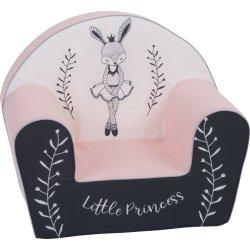 """Rožinis vaikiškas foteliukas """"Zuikutė princesė"""""""