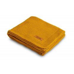 Medvilninis pledukas - Mustard 100 x 80 cm