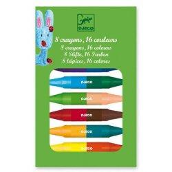 Djeco Dvipusės kreidelės - 16 spalvų