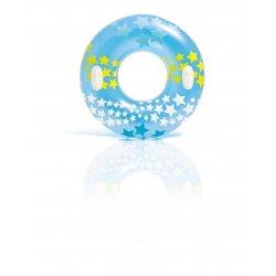 Mėlynas plaukimo ratas su žvaigždelėmis 91 cm