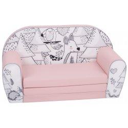 """Rožinė minkšta sofa - """"Miškas"""""""