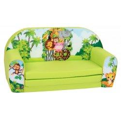 """Žalia vaikiška minkšta sofa - 'Zoo parkas"""""""