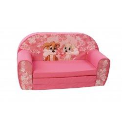 """Rožinės spalvos sofa - """"Šuniukai"""""""