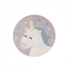 "Minkštas apvalus kilimas - ""Unicorn"" Ø120 cm"