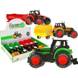 Mini traktoriukas su priekaba ir vairuotoju