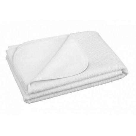 Balta neperšlampanti frotinė paklodė 70x140cm