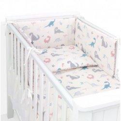 Patalynės komplektas su lovytės apsauga - DINO 3 d. Premium