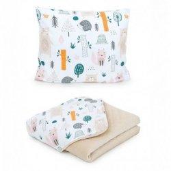 Kreminė pagalvė + antklodė - Forest, 75x100 cm, Premium