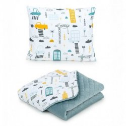 """Pagalvė ir antklodė - """"City"""" 75x100 cm"""