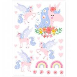 """Sienų lipdukai """"Rožiniai arkliukai"""""""
