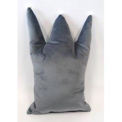 """Pilka dekoratyvinė pagalvė """"Crown"""""""