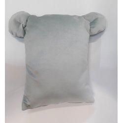 "Pilka dekoratyvinė pagalvėlė ""Bear ears"""
