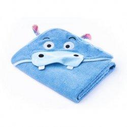 """Mėlynas rankšluostis -""""HIPOPOTAM"""" 100x100 cm"""