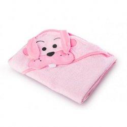 """Rožinis rankšluostis - """"Triušis"""" 100x100 cm"""