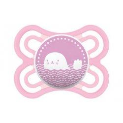 """Rožinis MAM čiulptukas - """"Ruoniukas"""" 0-6 mėn."""