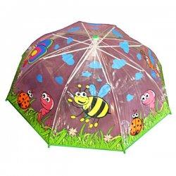 Permatomas skėtis - bitutė ir drugelis