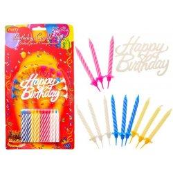 """Žvakučių komplektas - """"Happy birthday"""""""