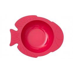 """Raudonas KIDODO dubenėlis su prilimpančiu dugnu - """"Žuvytė"""""""