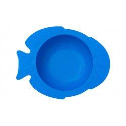 """Mėlynas KIDODO dubenėlis su prilimpančiu dugnu - """"Žuvytė"""""""