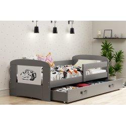 "Pilka viengulė lovytė - ""Filip"" 160x80 cm"