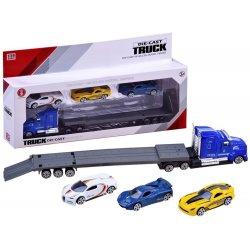 Sunkvežimis - tralas su sportinėmis mašinėlėmis