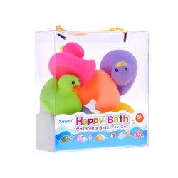 Minkšti vonios žaisliukai - spalvingi ančiukai