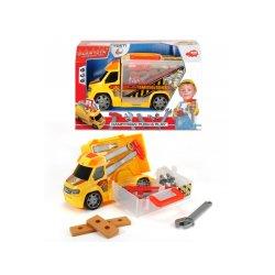 Geltonas įrankių automobilis su šviesomis ir garsais
