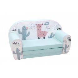 """Žydros spalvos sofa - """"Lama dykumoje"""""""