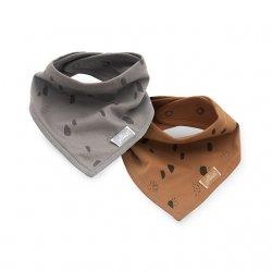 Pilkos ir rudos spalvos kaklaskarės 2 vnt