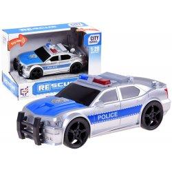 Policijos automobilis su šviesomis ir garsais