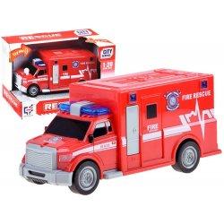 Raudonas mini greitosios pagalbos automobilis