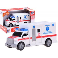 Baltas greitosios medicinos automobilis