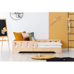 """Medinė viengulė lovytė su apsauga nuo iškritimo """"Young"""""""