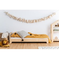 Viengulė medinė lovytė be apsaugų