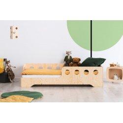 """Medinė viengulė lovytė su apsauga nuo iškritimo """"Round"""""""