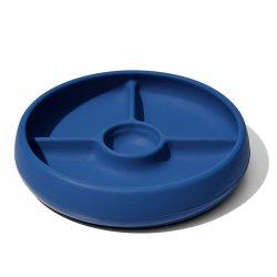 OXO silikoninė lėkštė su skyreliais - mėlyna